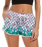 Pantaloncini da Nuoto con Coulisse Regolabile Estate novità Galaxy Sirena Pigiama Grafico Pantaloncini da Corsa Yoga Sport Pantaloni Casual Estate Pigiama Pantaloni XL