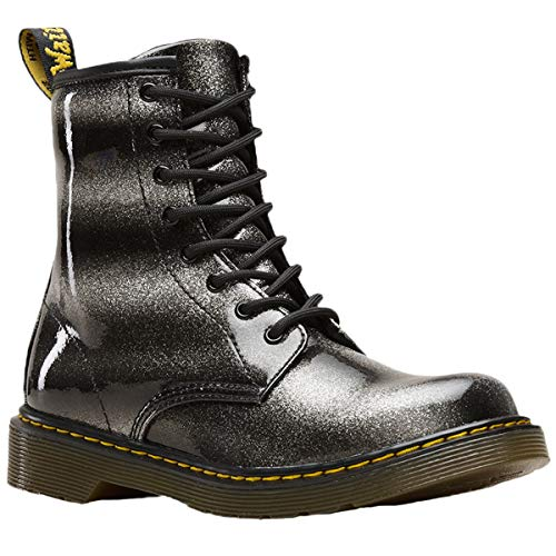 Dr.Martens Youth 1460 Ombre Glitter Glitter Patent Synthetic Black Silver Stiefel 38.5 EU Youth Black Patent Schuhe