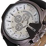 SSITG Retro Rotgold Herren Braun Lederarmbanduhr Sportuhr Armbanduhr Weihnachtgeschenk #1