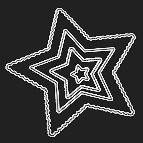 Qinpin Stanzschablone, Banner Stanzformen, Metall Prägeschablone für Scrapbooking, Album, Papier, Karten, Kunst, Dekoration, kostenlose Lieferung, Karbonstahl, K, Einheitsgröße