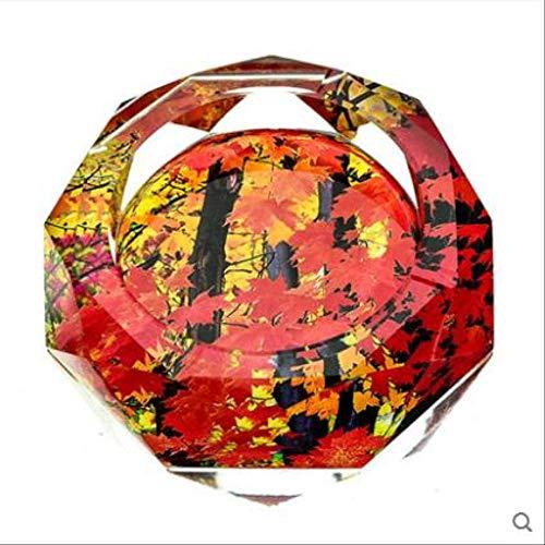 YTHX Aschenbecher Kristall Aschenbecher, Wohnkultur, Bürobedarf Aschenbecher12 cm
