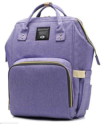 Reizbaby Mode Mummy Tasche,Multifunktions Groß Kapazität Rucksack,Wasserdicht Maternal Mag Lady Outdoor Reise Rucksack (lila)