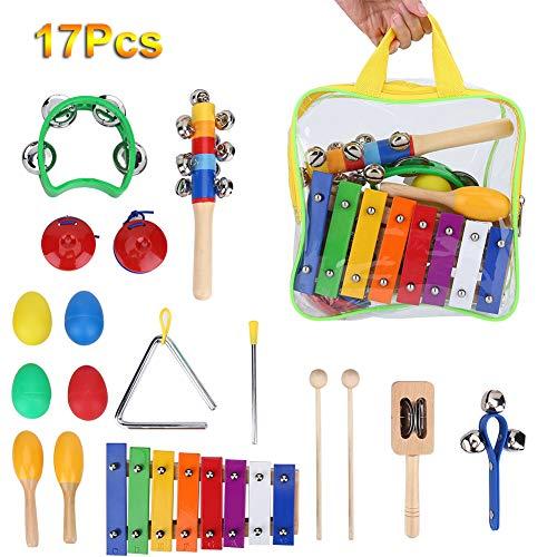 Xylophone, Giocattoli di Percussione Educativi per Bambini con Zaino di Immagazzinaggio del Giocattolo