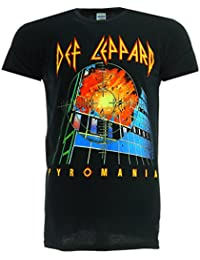 Def Leppard Pyromania Black T-Shirt Official Licensed Music