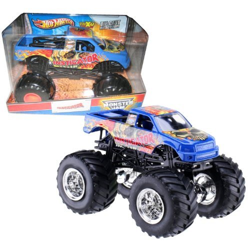 Hot Wheels Year 2013 Monster Jam 1:24 Scale Die Cast Official Monster Truck Series - INSTIGATOR (X9027) with Monster Tires, Working Suspension and 4 Wheel Steering (Dimension - 7 L x 5-1/2 W x 4-1/2 H) by Monster Jam
