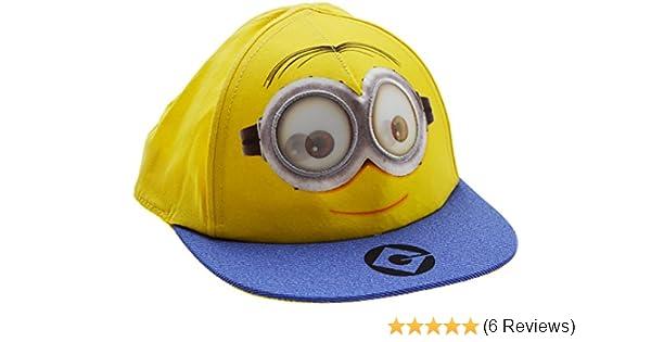 Boys Despicable Me Smiling Carl The Minion Rotating Eye Baseball Cap Yellow 2 Sizes