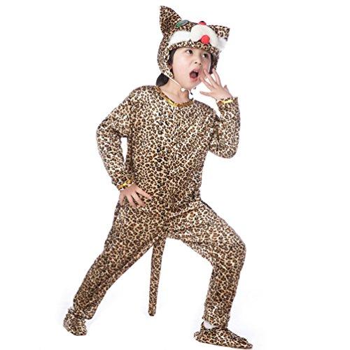 Honeystore Kind's Unisex Katze Jumpsuit Kostüm Siamesische Kleidung Pyjamas Freizeitkleidung Cosplay (Für Verkauf Kostüm Cosplay Batman)