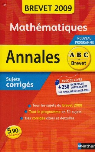ANNAL 09 ABC BREV SUJ COR MATH par CAROLE FEUGERE, GILLES MORA