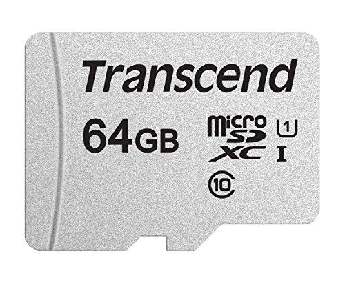 Transcend 64GB microSDXC/SDHC 300S Speicherkarte TS64GUSD300S -