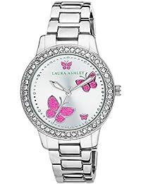 Laura Ashley Mujeres Reloj De Cuarzo Con Esfera de madreperla analógica y pulsera de aleación de plata la31015ss