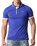 MODCHOK Homme Polo T-Shirt à Manche Courte Chemise Shirt Coton Casual Classique Bleu2 XL