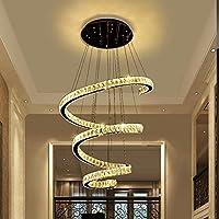 WQW Moderne LED Kristallleuchtern, Treppen Lichter Duplex Kreative Einfache  Runde Saal Wohnzimmer Lichter Leuchten