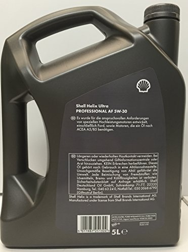 Royal Dutch Shell Lubricants 1280005 Helix Ultra Professional AF 5W-30 5 Liter