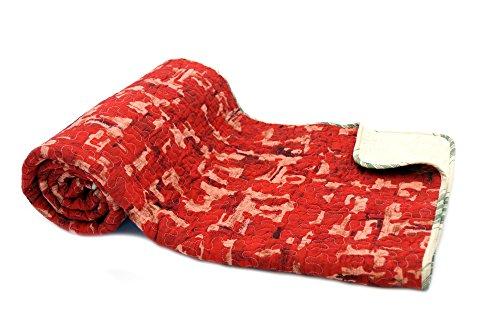 1001Wohntraum 17jn24Quilt Jessica patrón rojo Graphic, 150x 200cm, Plaid Colcha Patrón Diseño de Lunares Vinatge,