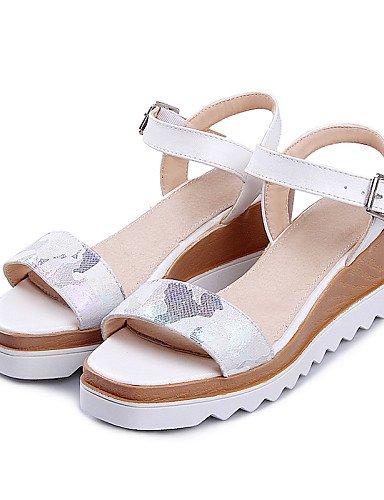 UWSZZ IL Sandali eleganti comfort Scarpe Donna-Sandali-Casual-Aperta-Plateau-Finta pelle-Nero / Blu / Rosa / Bianco Black