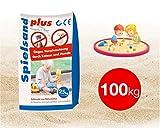 TK Gruppe Timo Klingler 100 kg Sand Spielsand für Sandkasten Kindersand Sandkastensand 0-0,2 mm Spielsand für Kinder (100 kg)