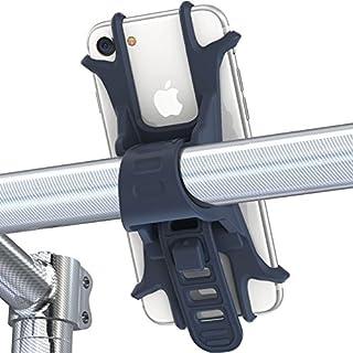Vélo support pour téléphone portable, Fnova Coque en silicone réglable support vélo Support pour téléphone portable, support universel pour n'importe quel Smartphone avec 4–écran de 15,2cm et tous les Guidon de vélo, montage et démontage tout Plat en quelques secondes, noir foncé