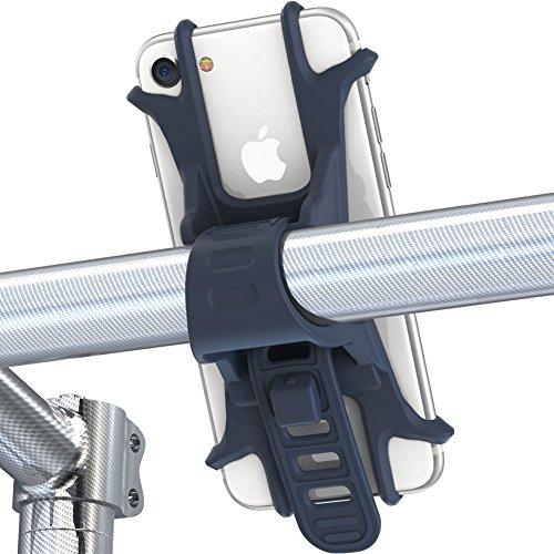 Handyhalterung fahrrad von Fnova, aus Einzelstück geformt hochwertigem Silikon, EXTREM bruchfestes, verstellbarer Smartphone Handyhalter, Universialer Motorrad Fahrradhalter Bike Holder (Neu Blau)