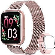 AIMIUVEI Smartwatch Donna, Orologio Fitness Donna Full Touch 1,4 Pollici Cardiofrequenzimetro da Polso Pressio
