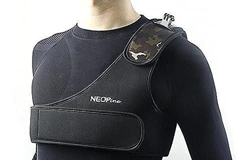 Y & M (TM) Accessoires GoPro Motif camouflage élastique résistant aux rayures Sangle d'épaule simple support adaptateur pour ceinture harnais de poitrine pour caméra GoPro HD Hero 4/3+/3/2/1SJ4000Appareils Photo d'action