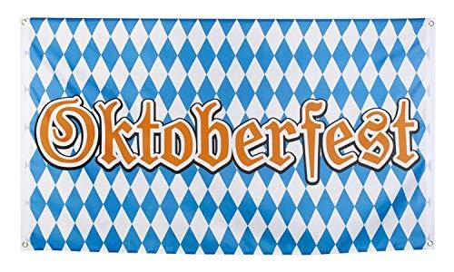 Boland 54261 Flagge Oktoberfest 90x150 cm, blau/weiß, 90 x 150 cm