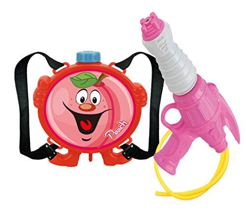 ⚙ Wasserpistole mit Wassertank Rucksack mit lustigen Früchte Motiven ⚙ (Pfirsisch) - 2