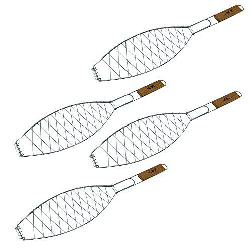 Para freír pescado | para pescado a la parrilla y espátula para pescado, soporte cesta | accesorios...