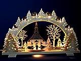 3D Schwibbogen Seiffener Kirche & Kurrende Handarbeit Erzgebirge Seiffen Lichterbogen für Weihnachten