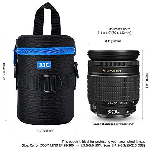 PROfoto.Trend/JJC DLP-2II Deluxe Objektiv Tasche mit Umhängeband, Wasserabweisend, Schwarz, passt Objektiv Durchmesser und Höhe unter 80 x 152mm [Siehe Beschreibung für die Kompatibilität]