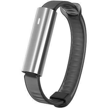 Misfit Wearables Ray Leather Pulsera para Seguimiento de Actividad, Acero Inoxidable