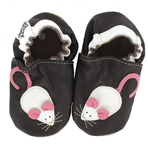 HOBEA-Germany Krabbelschuhe Erdbeere, Chaussures Bébé quatre pattes (1-10 mois) mixte bébé Maus