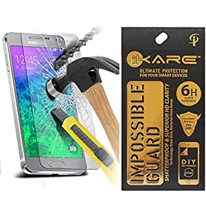 iKare Impossible Tempered Glass Screen Protector for Samsung Galaxy A7 (2.5D DIY REUSABLE, ULTRA CLEAR, REAL SHOCK PROOF, UNBREAKABLE)