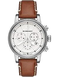 BURBERRY Mujer 42 mm Cronógrafo Marrón Pulsera de piel Carcasa de Acero Inoxidable Reloj BU7817