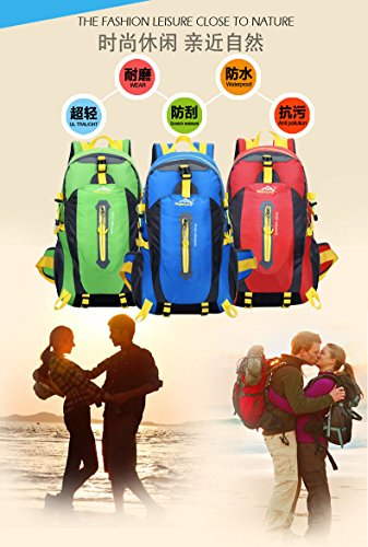 Wanderrucksäcke, Trekkingrucksäcke, Camping Rucksack / Reisen Rucksack / Trekking Rucksäcke / Casual Daypack Tasche für Outdoor Sport Wandern Trekking Camping Klettern Berg green 2
