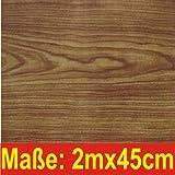 Klebefolie Nussbaum 200x45cm Holzoptik Dekofolie Selbstklebefolie Möbelfolie