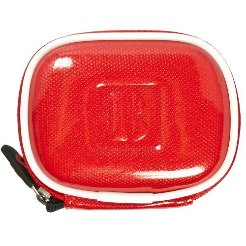 VangoddyTM VanGoddy Compact Carrying Case for Plantronics Discovery 975SE / 975 Bluetooth Headset (Candy Red)