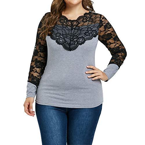 VEMOW Sommer Elegant Damen Damen Mädchen Casual Täglichen Party Plus Size Schwarze Katze Printed Kurzarm T-Shirt Bluse(X3-Grau, EU-42/CN-S) - Plus Size Peacoats