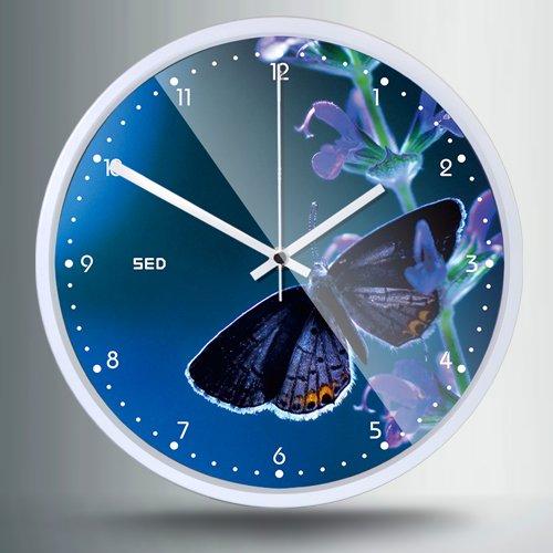 OLILEIO modernes Wohnzimmer Innotime pastorale Quarzuhr Mute Mode Clock Watch, 12 Zoll, 514 Weiß