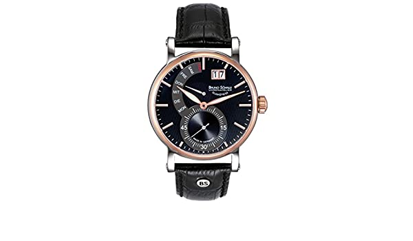 Mit Leder 747 Analog Uhr Quarz 63073 Armband 17 Herren Bruno Söhnle WeD9b2EHIY
