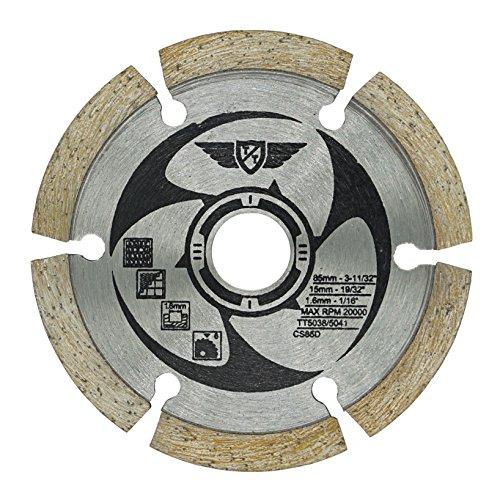 1 x TopsTools CS85D_1 85mm 15mm Bohrung Diamant Trinkgeld Sägeblätter für Worx, Bosch, Makita, Ryobi, Rockwell und viele andere