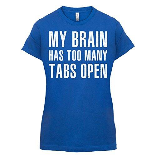 Mein Gehirn hat zu viele Tabs geöffnet - Damen T-Shirt - 14 Farben Royalblau