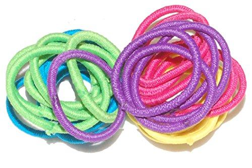 20 Mini élastiques multicolores