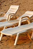 Three White Lounge Chairs on the Beach in Florida Journal: Take Notes, Write Down Memories in This 150 Page Lined Journal