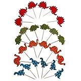 Baoblaze Cake Topper Muffin Picks Set/24pcs - Dinosaurier Schildkröte
