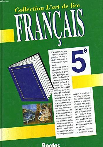 L'Art de lire, Français, 5e. Manuel de l'élève