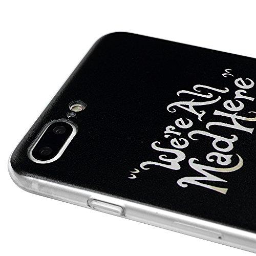 """iPhone 7 Plus Hülle iPhone 7 Plus (5.5"""") Hardcase YOKIRIN Premium Schutzhülle Case Hart PC Schrubben Case Handyschale Handyhülle Rückseite Protective Cover Tasche Skin Totem Blume(Case+Schutzfolie Dis Bared Zähne"""