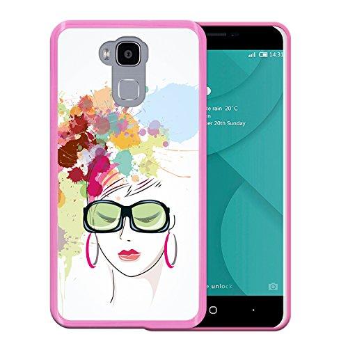 WoowCase Doogee Y6 4G Hülle, Handyhülle Silikon für [ Doogee Y6 4G ] Aquarell- Modische Frau Handytasche Handy Cover Case Schutzhülle Flexible TPU - Rosa