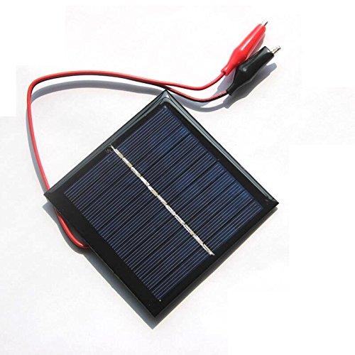 SODIAL 1W 5.5V Solarzelle Epoxid polykristalliner Sonnenkollektor + Klipp fuer das Laden von 3.7V Batteriesystem Spielzeug LED-Licht Studie 95 * 95MM