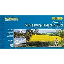 Schleswig - Holstein Süd, Radatlas, wetterfest/reißfest, Spiralbindung, GPS-Tack-Download (Bikeline Radtourenbücher)