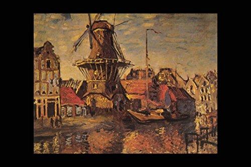 402080 _Gooyer Windmill Amsterdam_ Claude Monet A4 Photo Poster Print 10x8